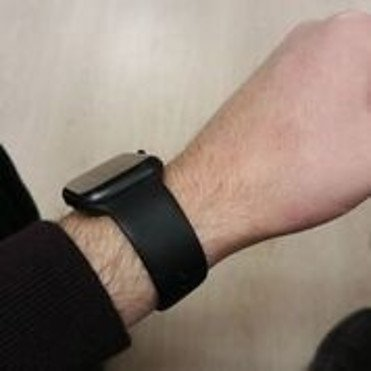 Smart Watch on the wrist to show how comfortably it fits