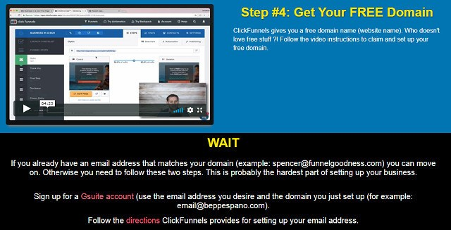 ClickFunnel Training Step 4