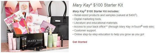 Mary Kay $100 Start Up Kit Option