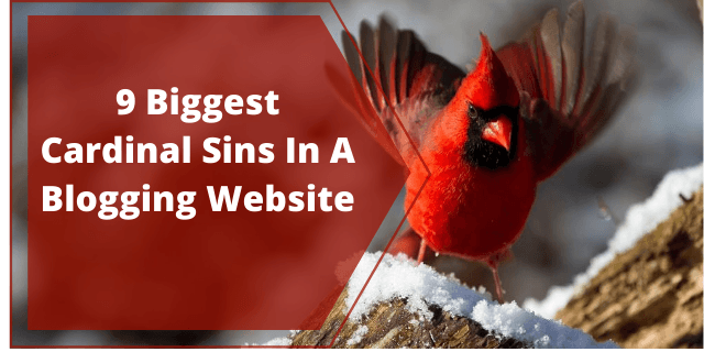 9 Biggest Cardinal Sins In A Blogging Website